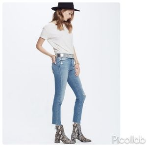 Mother High Waisted Stretch Rascal Ankle Jeans